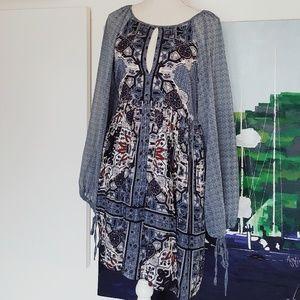 Free People Dresses - NWT FREE PEOPLE OKSANA MARINE BLUE DRESS